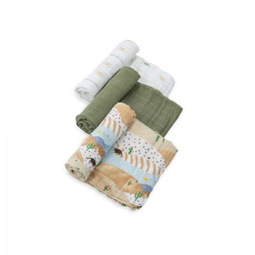 Picture of Cotton Muslin Swaddle 3 Pack - Desert Hills by Little Unicorn