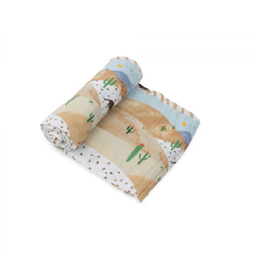 Picture of Cotton Muslin Swaddle Single - Desert Hills by Little Unicorn