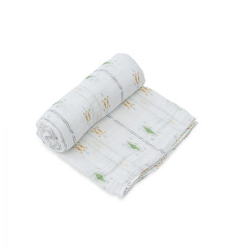 Picture of Cotton Muslin Swaddle Single - Diamond Stripe by Little Unicorn