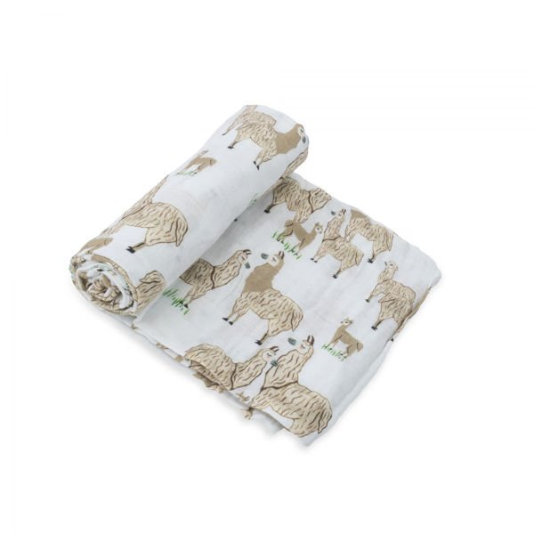Picture of Cotton Muslin Swaddle Single - Llama Llama by Little Unicorn