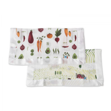 Picture of Cotton Muslin Security Blanket 2 Pack - Rolling Hills by Little Unicorn
