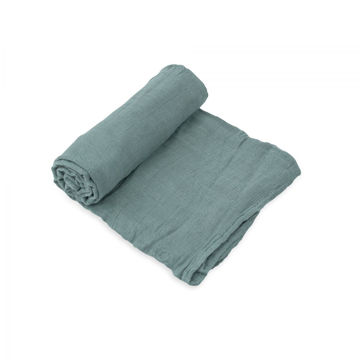 Picture of Deluxe Bamboo Muslin Swaddle Single - Spruce by Little Unicorn