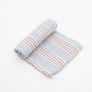 Picture of Cotton Muslin Swaddle Single - Stitch Stripe by Little Unicorn
