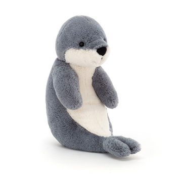 "Picture of Bashful Seal - Medium 9"" x 4"" - by Jellycat"