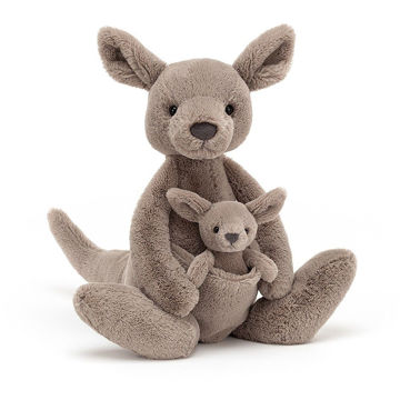 "Picture of Kara Kangaroo W/ Joey - 15"" x 5"" - Beautifully Scrumptious by Jellycat"