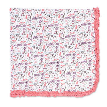 "Picture of Beatrix Floral Modal Swaddle Blanket - One Size 30"" x 30"""