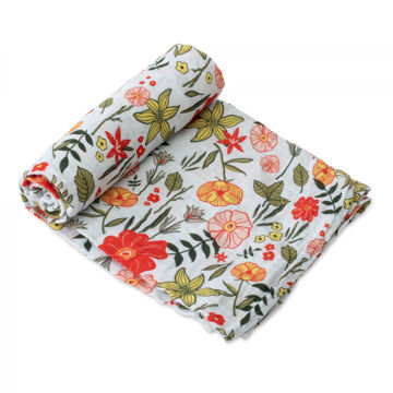 Picture of Cotton Muslin Swaddle Single - Primrose Patch by Little Unicorn