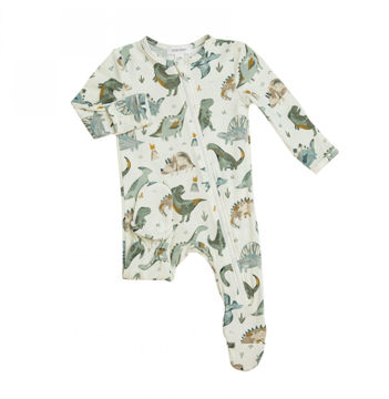 Picture of Angel Dear Bamboo Zipper Footie - Crayon Dinos