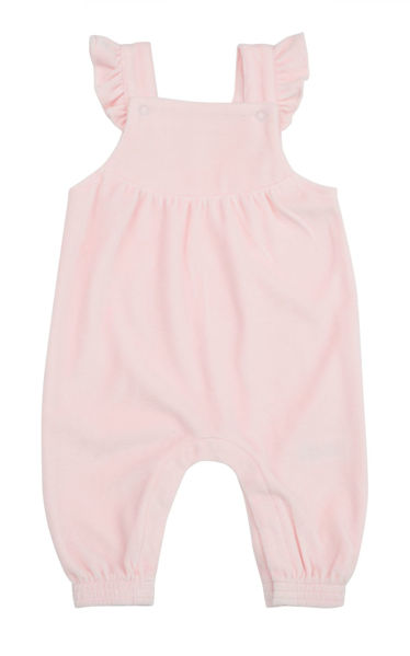 Picture of Angel Dear Ruffle Overall - Terry Cloth Pink