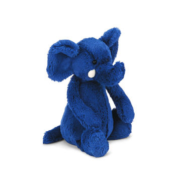 "Picture of Bashful Blue Elephant - Medium 12"" X 5"" By JellyCat"