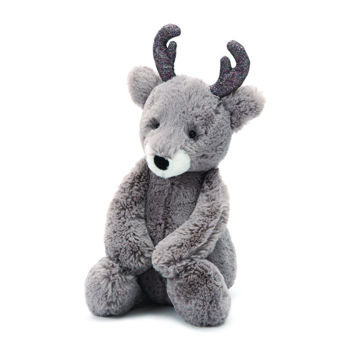 "Picture of Bashful Glitz Reindeer - Medium 9"" x 4"" - Jingle by JellyCat"