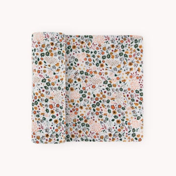 Picture of Cotton Muslin Swaddle Single - Pressed Petals by Little Unicorn