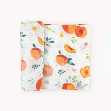 Picture of Cotton Muslin Swaddle Single - Georgia Peach by Little Unicorn