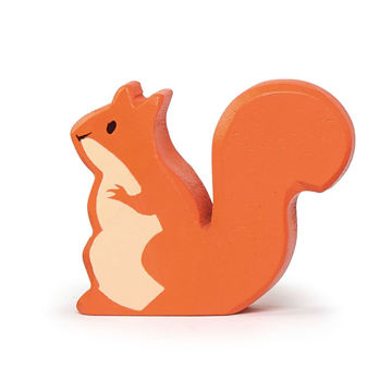 Picture of Red Squirrel Wooden Animal by  TenderLeaf Toys