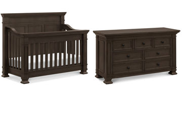 Picture of Tillen Truffle Crib + Dresser