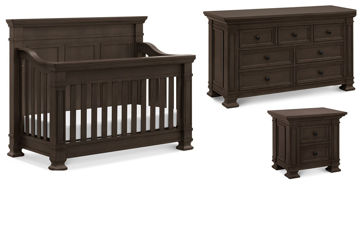 Picture of Tillen Truffle Crib + Dresser + Nightstand