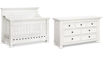 Picture of Tillen White Crib + Dresser