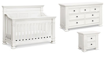 Picture of Tillen White Crib + Dresser + Nightstand