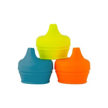 Picture of Snug Spout Universal Sippy Cup Conversions - Orange, teal, citrus Colors 3 pack