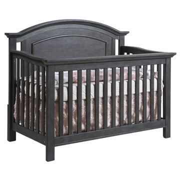 Picture of Como Arch Top Forever Crib - Distressed Granite - by Pali Furniture