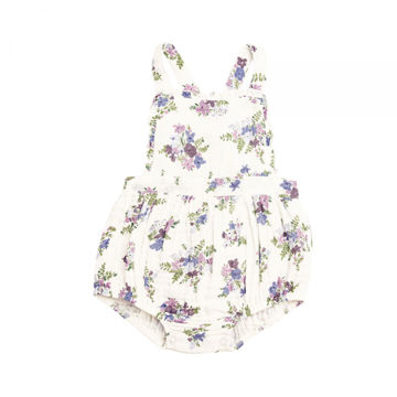 Picture of Angel Dear Lily Of The Valley Muslin Ruffle Bib Bubble Sunsuit